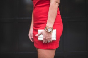 spring style, gold clutch,